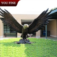 Garden Decoration Large Bronze Outdoor Eagles Statues for Sale