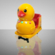 luxury yellow duck - Coin Operated Amusement Park Kiddie Rides for kids for sale