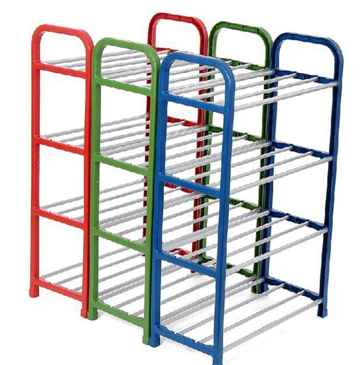 N282 New Design Easy Assembled Iron Shoe Rack, Custom Modern High Saving Space Metal Shoe Rack