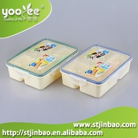Rectangle Shap Lunch Boxes With 4 Compartments for sale (Large Size)