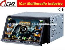 NEW/HOT Double Din 7'' touch screen,GPS, Bluetooth, TV, PIP, IPod, 3D UI 2 din 7 inch car dvd player