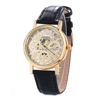 2015 Hot selling Korean style Hollow Gear shape Clock dial wrist Watches Men Luxury Fashion wrist watches