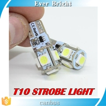T10 Canbus 5smd 5050 LED car Light led Canbus W5W led canbus 194 5050 SMD White Light Bulbs