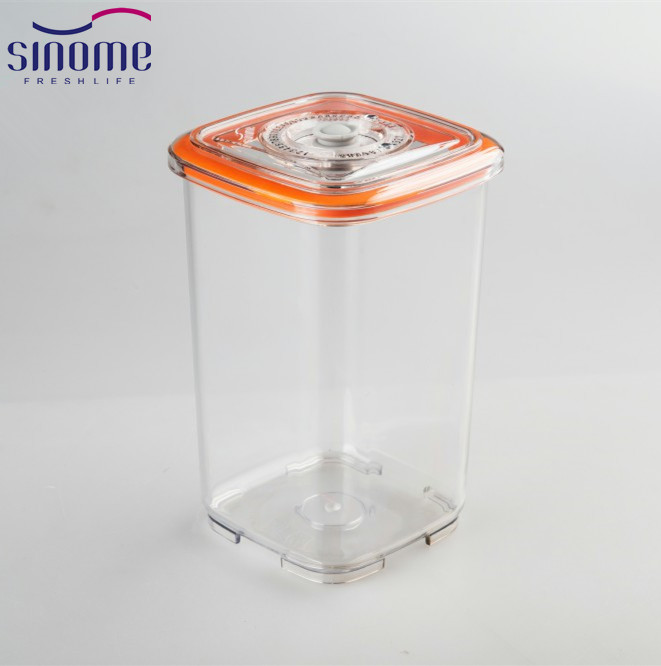 Sinome Long Term Food Storage Containers Tritan Plastic Air Tight Lids Vacuum Sealed, Vacuum Sealed Dry Goods Storage Container