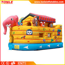 Commercial inflatable Noah's Ark bounce house for event