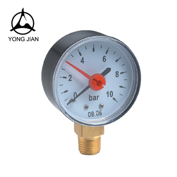 Manometer With Adjustable Red Pointer double needle pressure gauge