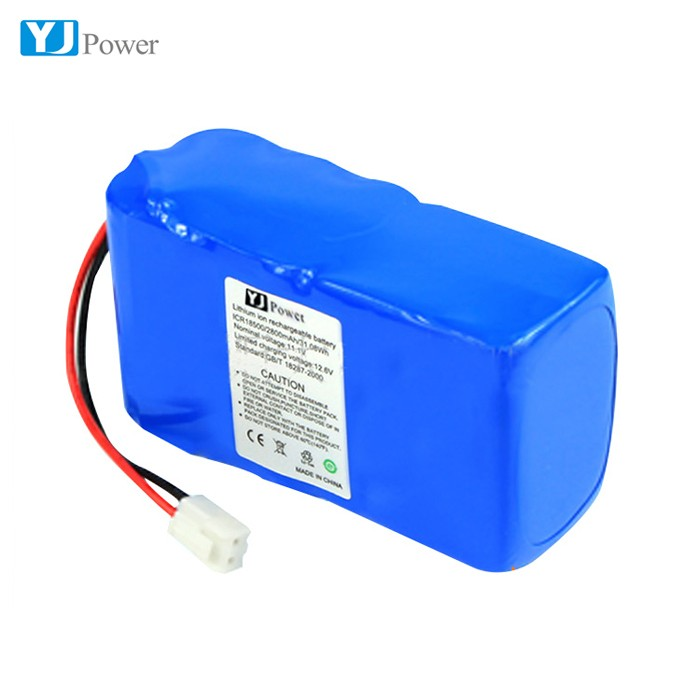 Top quality 12 volt lithium ion battery pack ICR 18650 3S2P 4400mAh for solar power bank