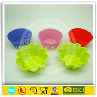 flower silicone baking form set/cupcake set