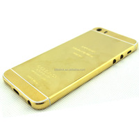 Planting cover for iphone 5s,for iphone 5s 24k gold plating back cover like for iphone 6 housing