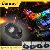 Under Car Light, 4pods/set Mini Mobile Phone APP Control 9W RGB Led Rock Light
