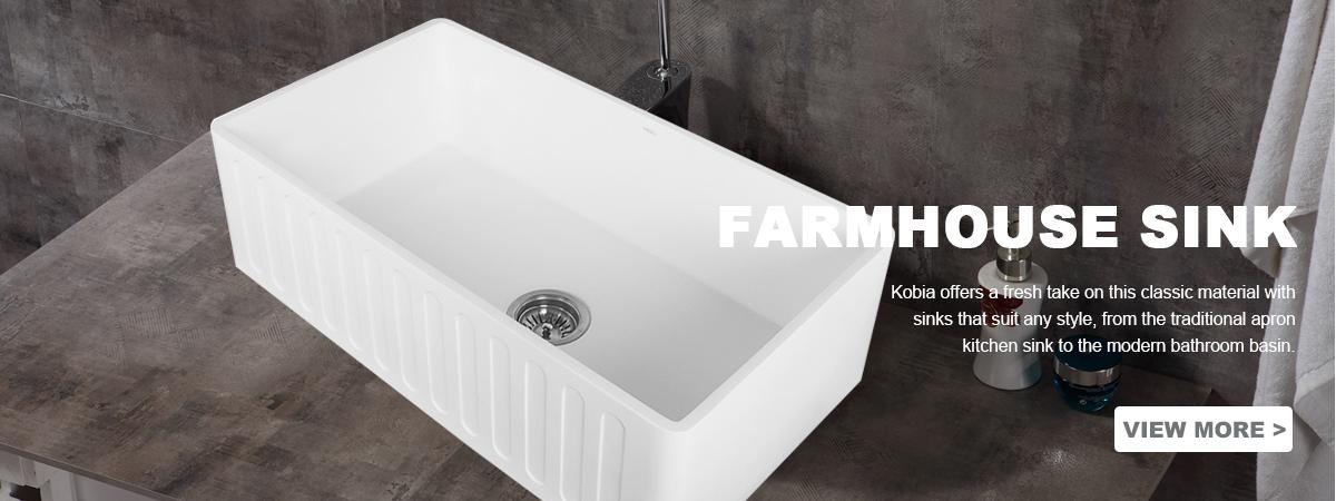 AuBergewohnlich 33 Inch Rectangular Kitchen Sink Farm House Solid Surface Kitchen Sink