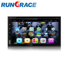 6.95 inch double din auto radio car DVD player with wifi/bluetooth/ipod/gps navigation