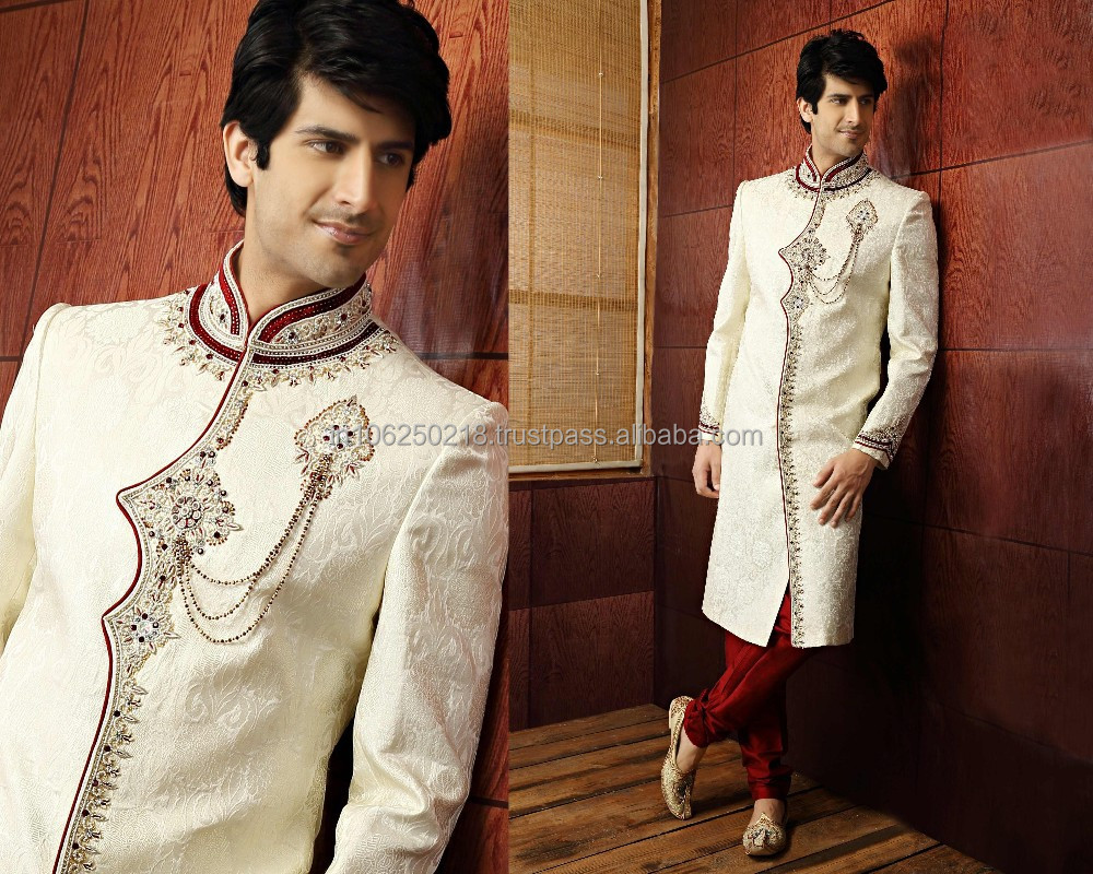 Pakistani Men's Sherwani mens pakistani sherwani black sherwani designs for men R3358