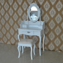 Modern wood furniture designs of dressing table with almirah