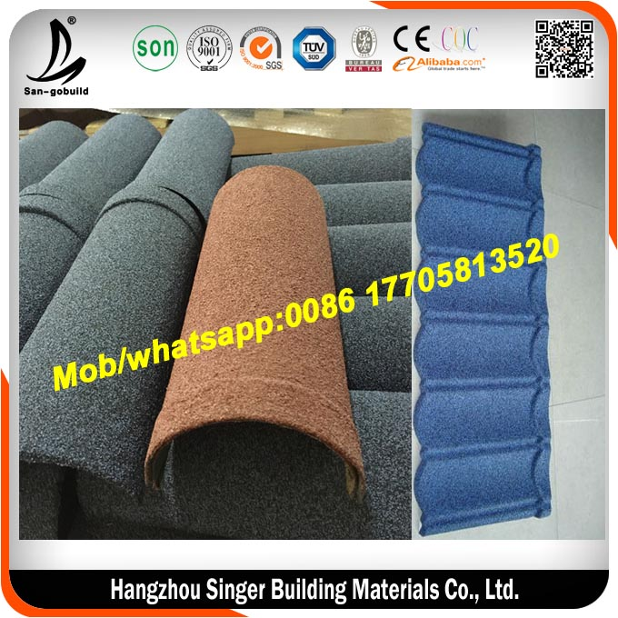 kerala stone coated metal roof tile, circulate roofing ridge tile