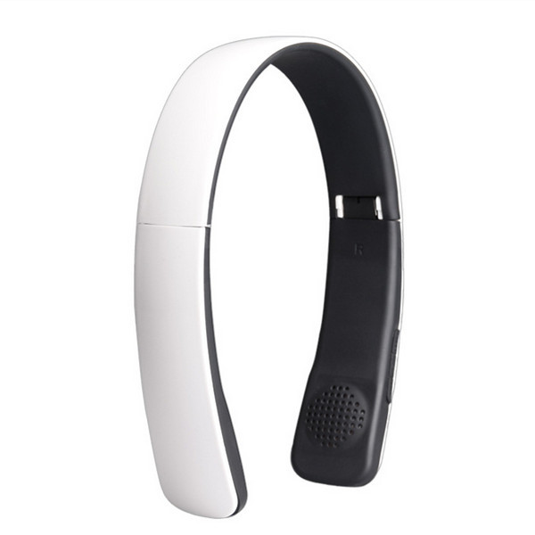 Stetchable folding headband bluetooth 4.0 wireless stereo headset with dual connection