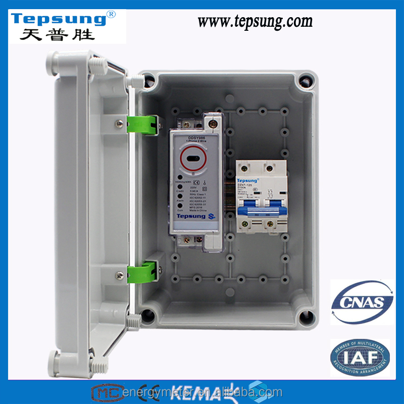 Smc glass fiber reinforced din rail electric electrical electronic Kwh Meter Box