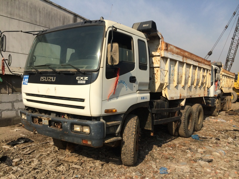 used dump truck Japanese Brand CXZ81 with low price for sale, 26 ton.