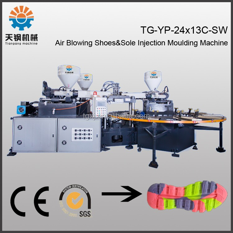 Energy-saving 3-color pvc air blowing machine with servo motor