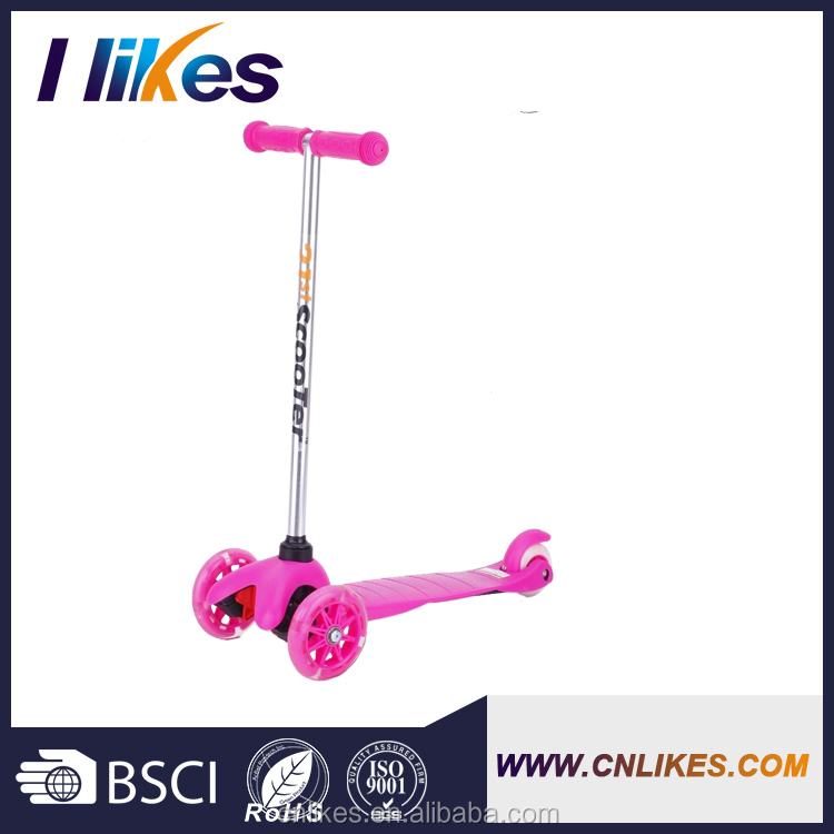 promotion New design sale flicker three wheel scooters for teenagers