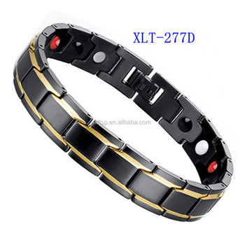 Hot sales 4 in 1 men bracelet stainless steel bio energy magnetic bracelet