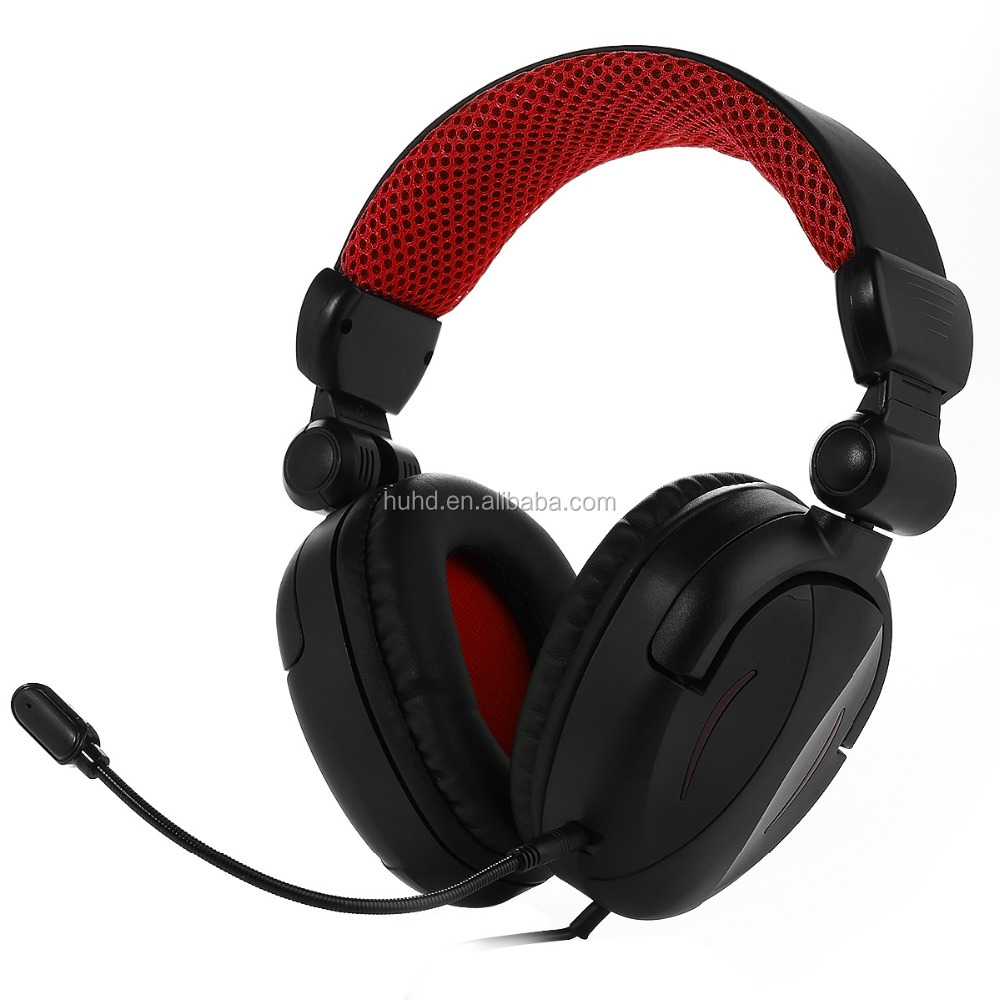 Foldable headband wired video gaming stereo headset headphone for PS4 xbox one PC tablet smartphone