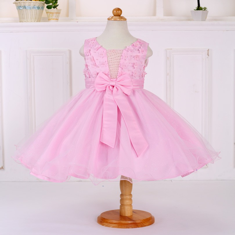 Kids High quality Sleeveless Hollow Flower Party Dress Tulle Tutu Princess Costume For Girls LT121