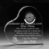 plain crystal /custom 3D cystal engraving photo wedding gift and trophy