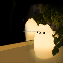 creativity colorful silicone light animal shaped lamp led touch light