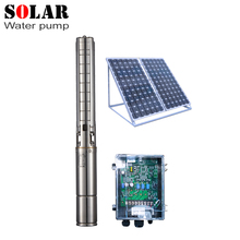 "4"" solar deep water pump kit centrifugal 1100w solar water pump dc solar submersible pump"
