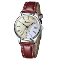 1.6usd cheap price watch with customized logo alloy leather strap watch