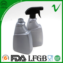 PVC cleaning empty plastic detergent bottle with trigger spray
