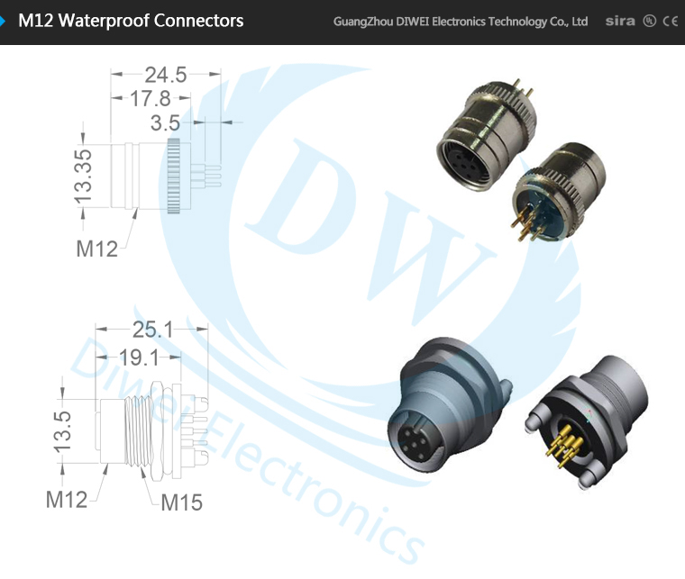 whole 4pin straight m12 connector cable special design m12 4pin straight m12 connector cable special design m12 sensor connector fastest delivery