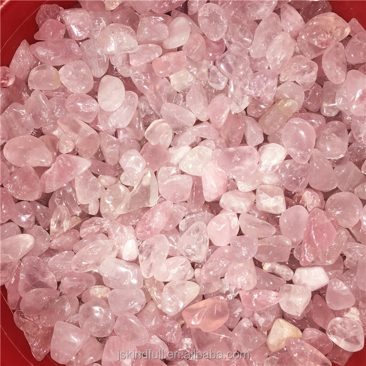 Wholesale Natural Polished Rose Macadam Gravel Tumble Pink stone crystal Macadam for decor