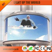 p10 full color shopping mall 360 degree spinning led screen outdoor display
