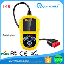 Wholesale OBD2 Car engine checker CAN OBDII EOBD trouble eraser T49 bulit in LED lights for ECU status