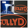 SOLLYD high density 3d Silicone screen garment printing ink on fabric flat leveling