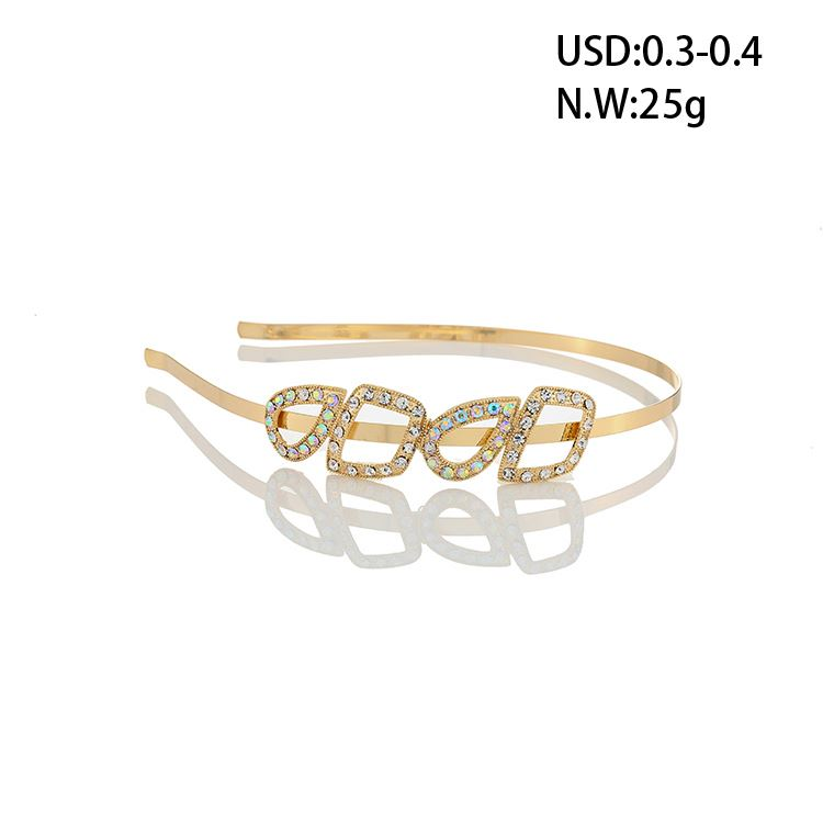 Fashion Rhinestone Hair Accessories Metal Hairbands