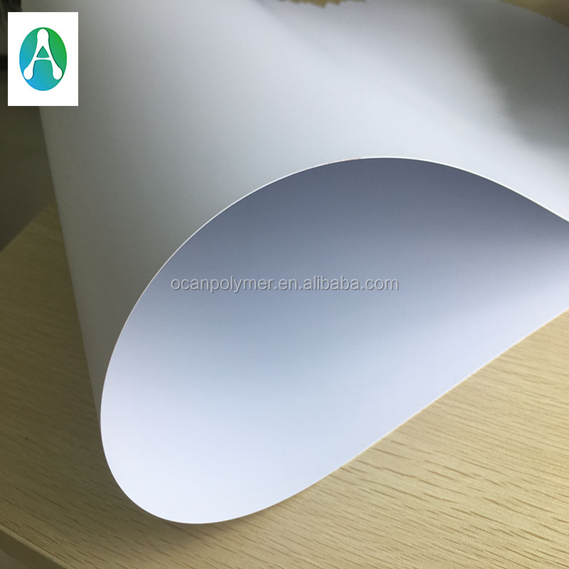 0.25mm rigid opaque white printable plastic pvc sheet for play cards