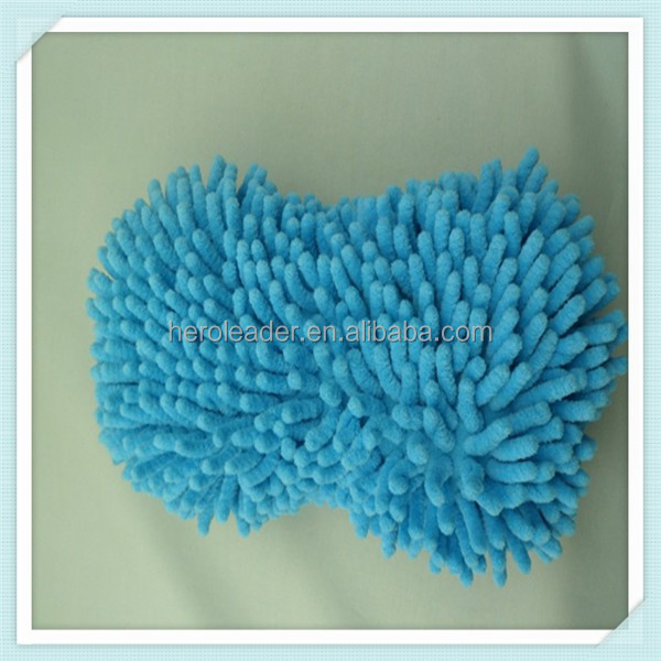 Plush Material and Glove Type Microfiber Ultra Plush Wash Mitt HL003