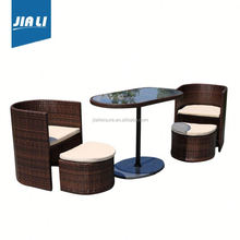 Hot selling factory directly outdoor/garden man-made wicker/ rattan /cane garden dining furniture