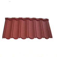 Cheap stone coated roof tile/sand coated steel roof tile