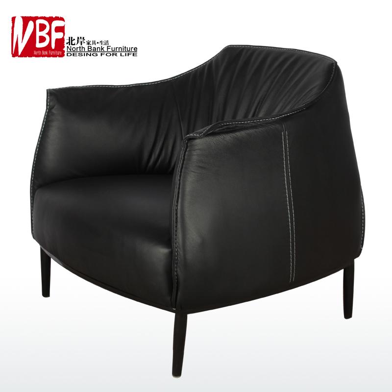North S Ikea Furniture European Fashion Simple Leather Sofa Lazy Dwarf Art Single Chaise Lounge R111 In Price On M Alibaba