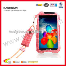 2014 New model mobile phones for samsung galaxy s4 19500 case , croco lanyard phone case