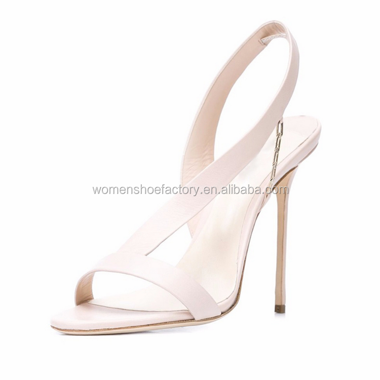 manufacture custom made high quality pencil heel sexy pure color ladies dress party sandals