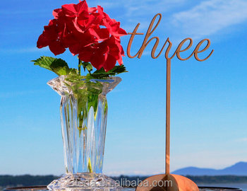 Wedding table decor wooden table number stands