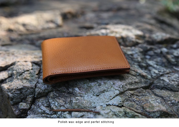 Top quality Wallet Genuine leather from Italy vegetable tanned thick and strong leather