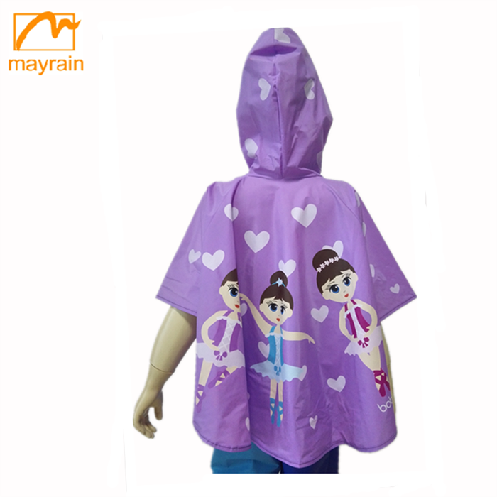 New fashion cartoon PVC waterproof pvc rain coat