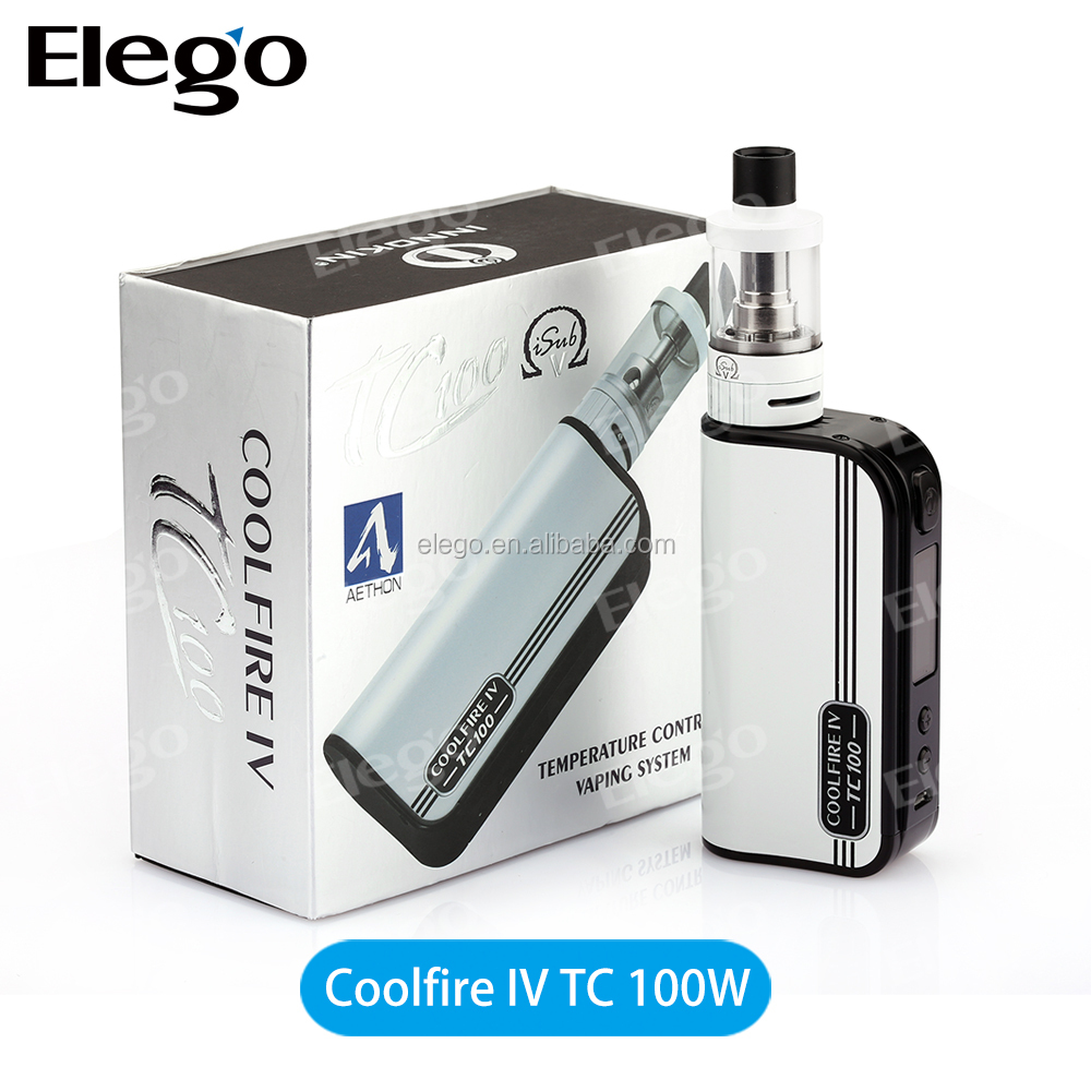 Hot selling innokin cool fire 4 case TC 100W Kit with iSubV atomizer with 3300mAh TC mod battery innokin coolfire 4