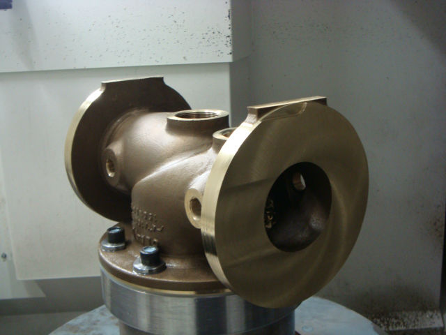 nickel alluminium bronze valve body machinig